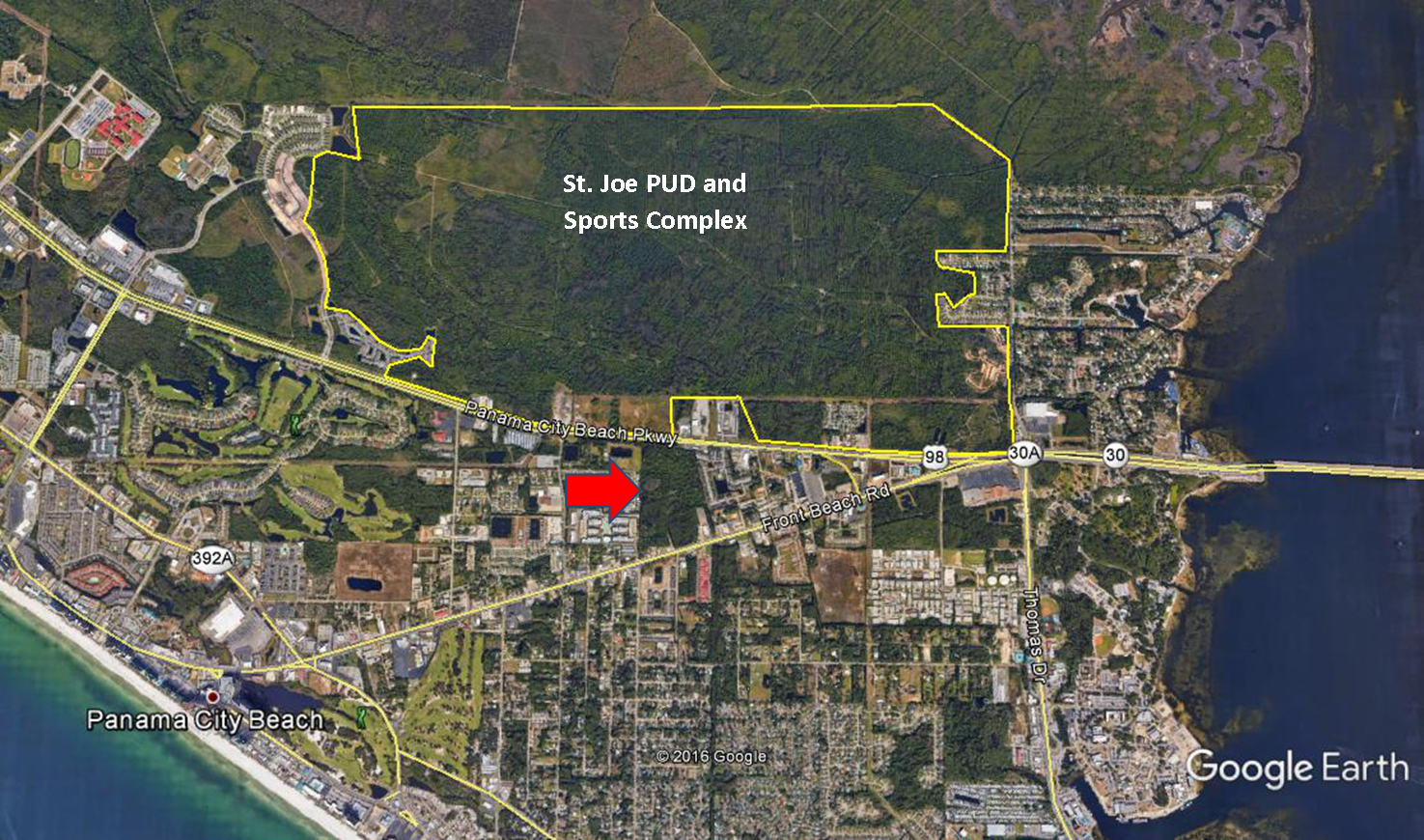 32 Acre Commercial Property In Panama City Beach